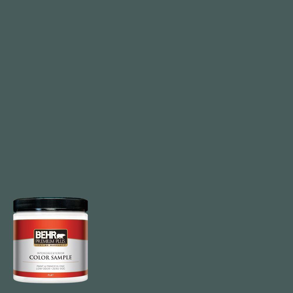 BEHR Premium Plus 8 oz. #N430-7 Silken Pine Interior/Exterior Paint Sample