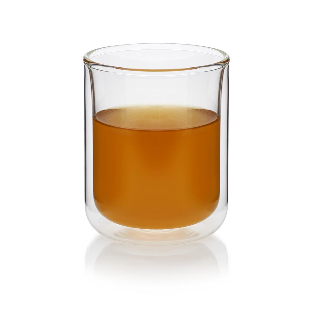Classic 11.7 oz. 4-Piece Double Walled Tea Glass Set, Clear