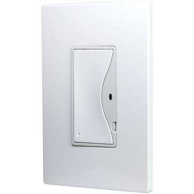 Aspire 8 Amp RF Single-Pole Rocker Wireless Light Switch, Silver Granite