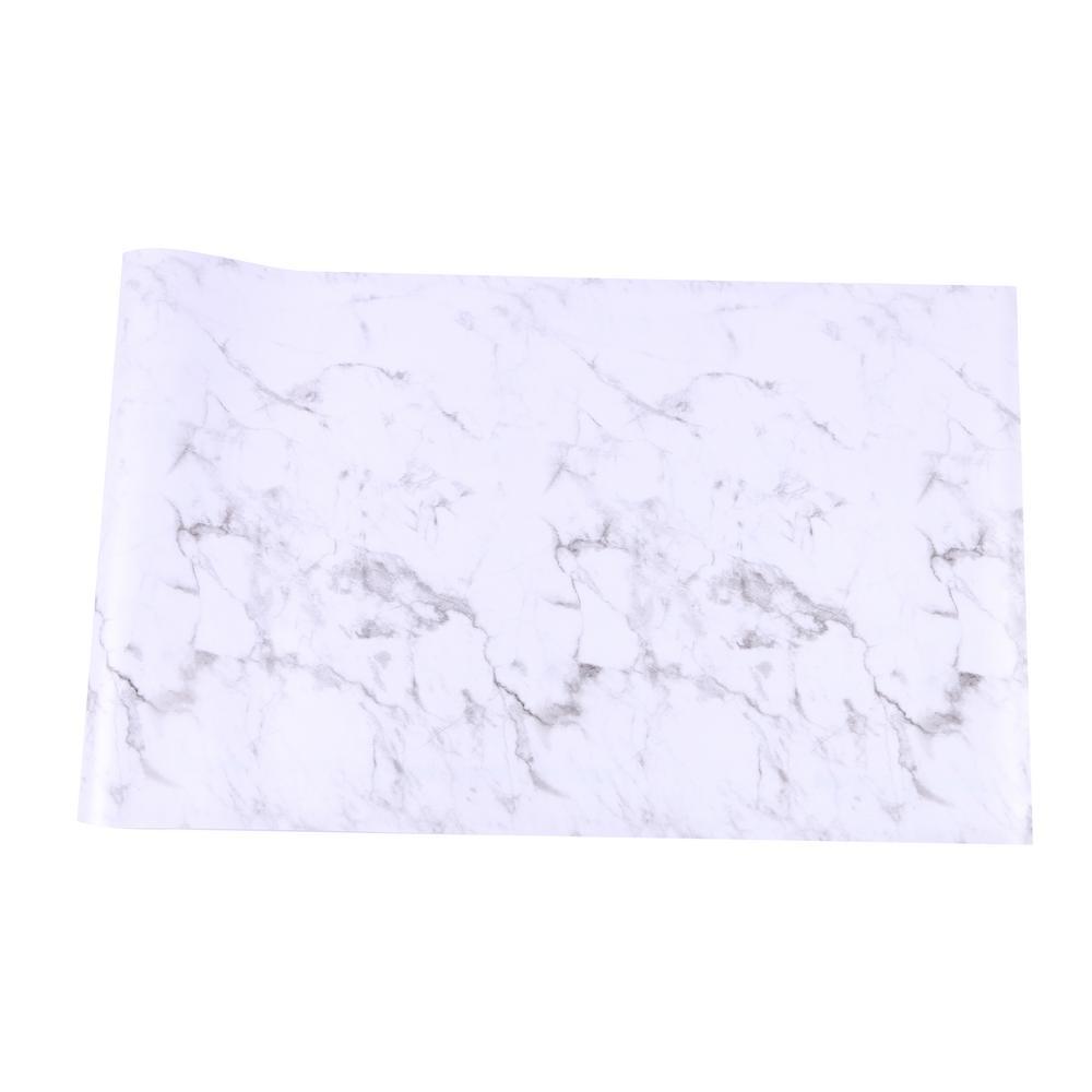 White Marble Shelf Liner (Set of 2)