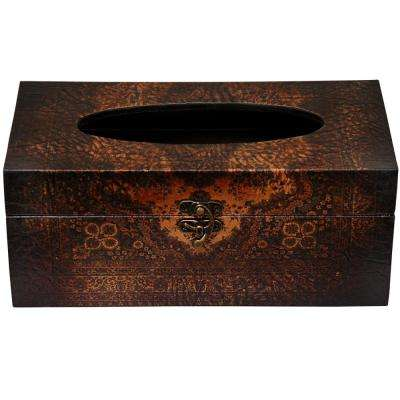 Oriental Furniture 10.5 in. x 4.25 in. Olde-Worlde European Tissue Box