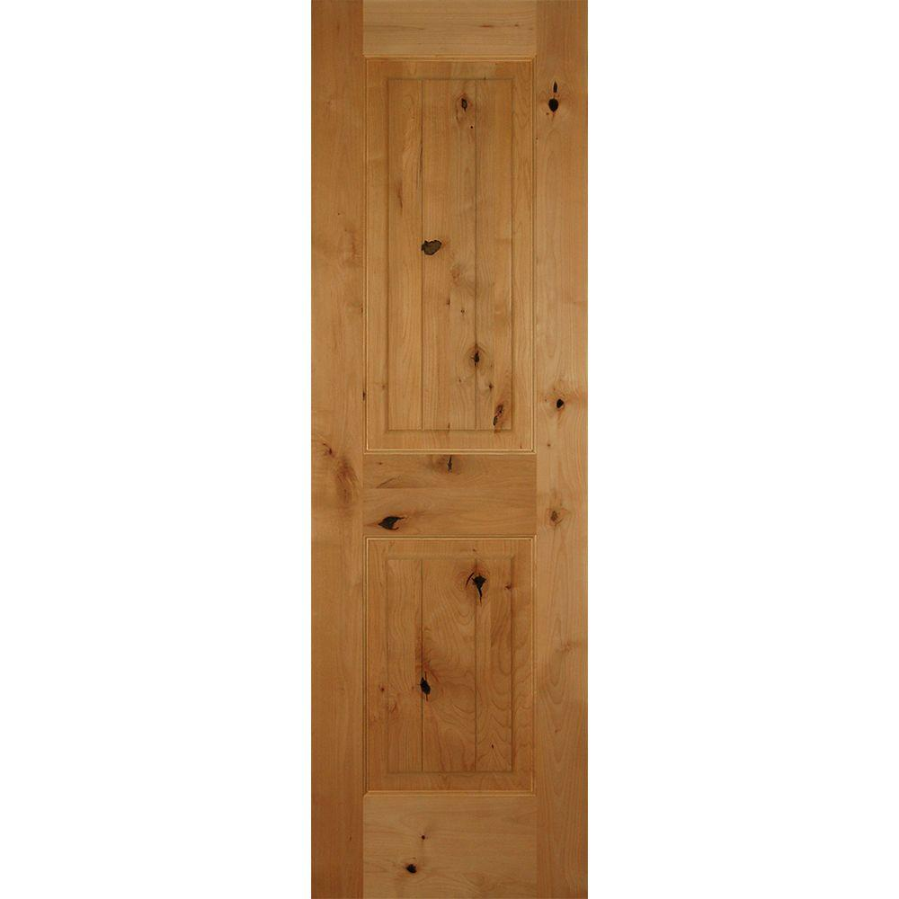 Builders Choice 30 In X 80 In 2 Panel Square Top Solid Core Knotty Alder Single Prehung