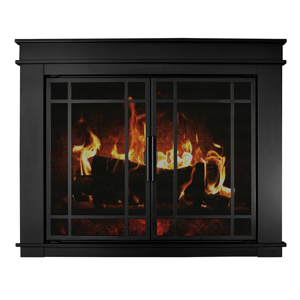 Make an elegant addition to your indoor setting by adding this affordable Pleasant Hearth Fillmore Large Glass Fireplace Doors.