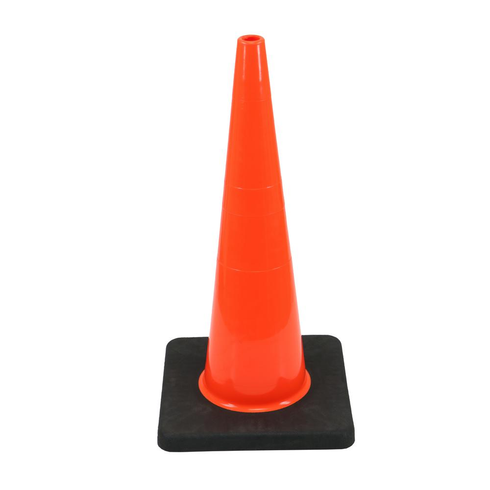 HDX HDX 28 in. Orange PVC Injection Molded Cone