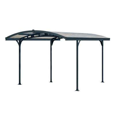 Atlas 5000 9 ft. 5 in. W x 16 ft. 3 in. L x 8 ft. H Carport with Corrugated Solar Gray Polycarbonate Roof Panels