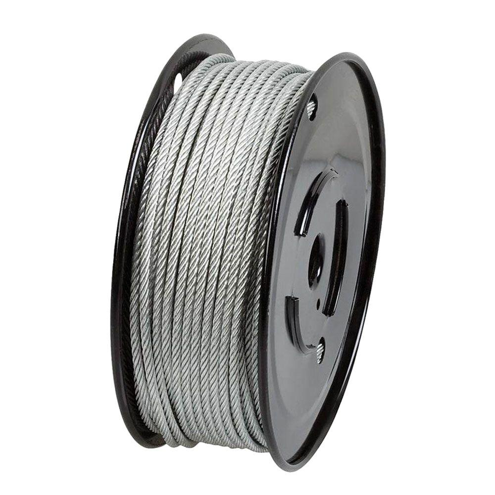 Everbilt 1/8 in. x 250 ft. Galvanized Vinyl-Coated Wire Rope-806390 ...