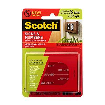 Scotch Signs and Numbers Mounting Strips (8-Pack)