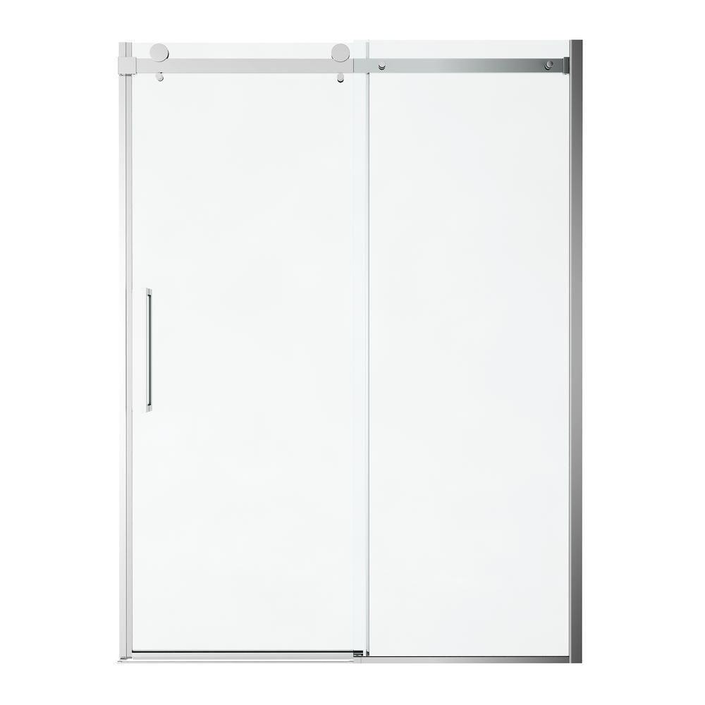 Passage 60 in. x 72 in. Frameless Sliding Shower Door in Clear Glass