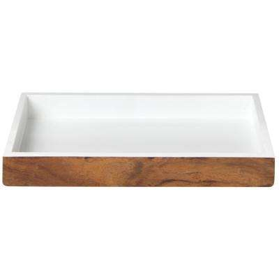 Hedland Brown and White Bath Tray