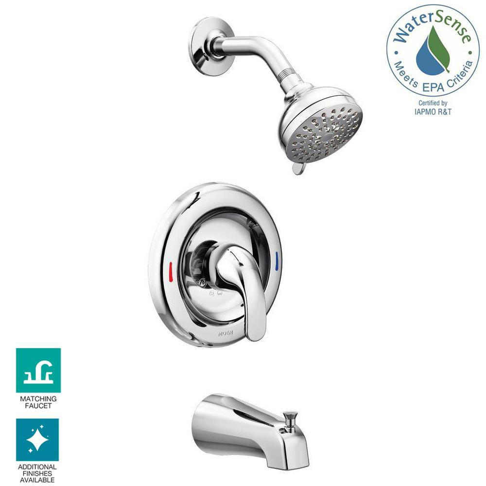 MOEN Adler Single-Handle 4-Spray Tub And Shower Faucet