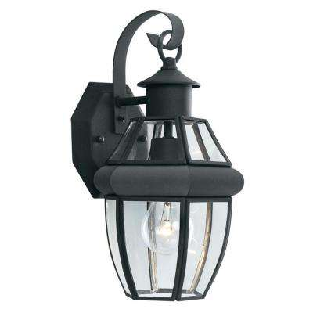 Heritage 1-Light Black Outdoor Wall-Mount Lantern