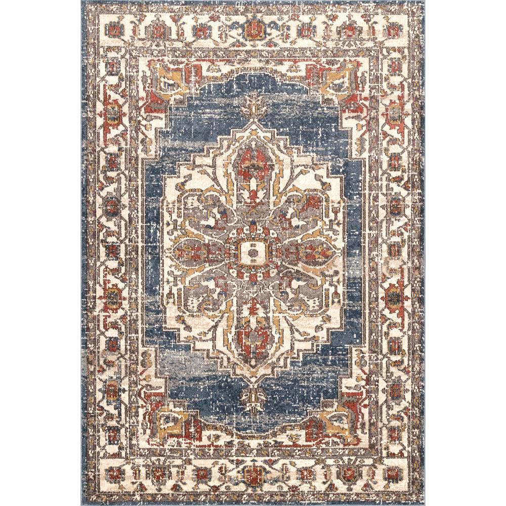 Nuloom Lea Oriental Persian Blue 8 Ft