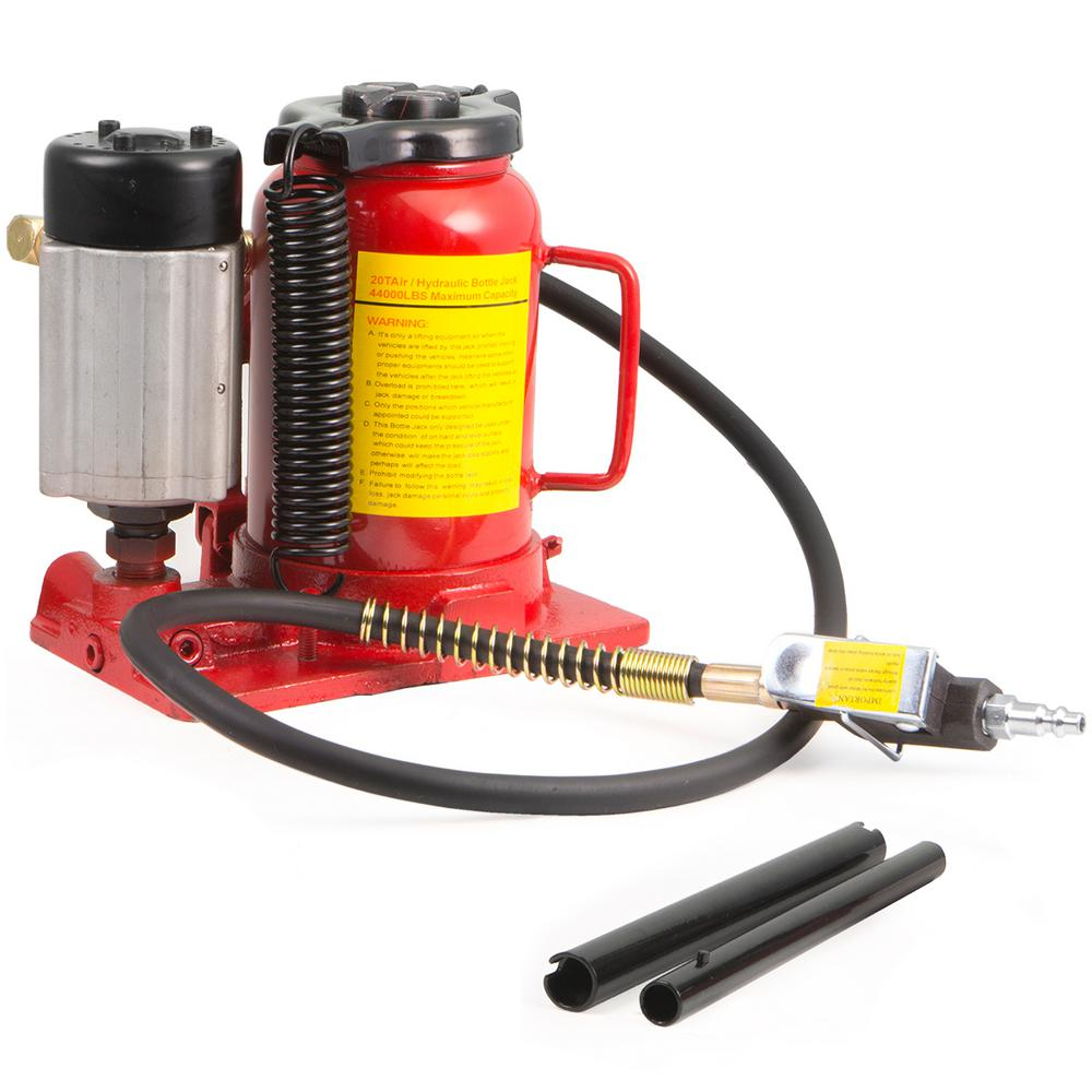 New 20 TON Air Low Profile Manual Hydraulic Bottle Jack 40,000 LBS