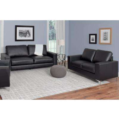 Modern - Faux Leather - Black - Sofas & Loveseats - Living Room ...
