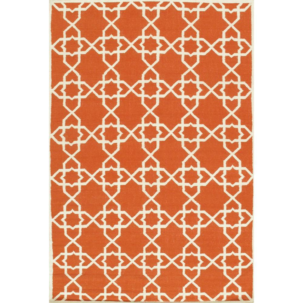 Pasargad Home Kilim Coral 6 Ft X 9 Ft Geometric Lamb S Wool Area Rug Sa 10424 6x9 The Home Depot