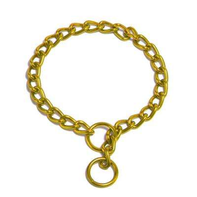 Platinum Pets 14 in. x 2 mm Chain Training Collar, 24K Gold