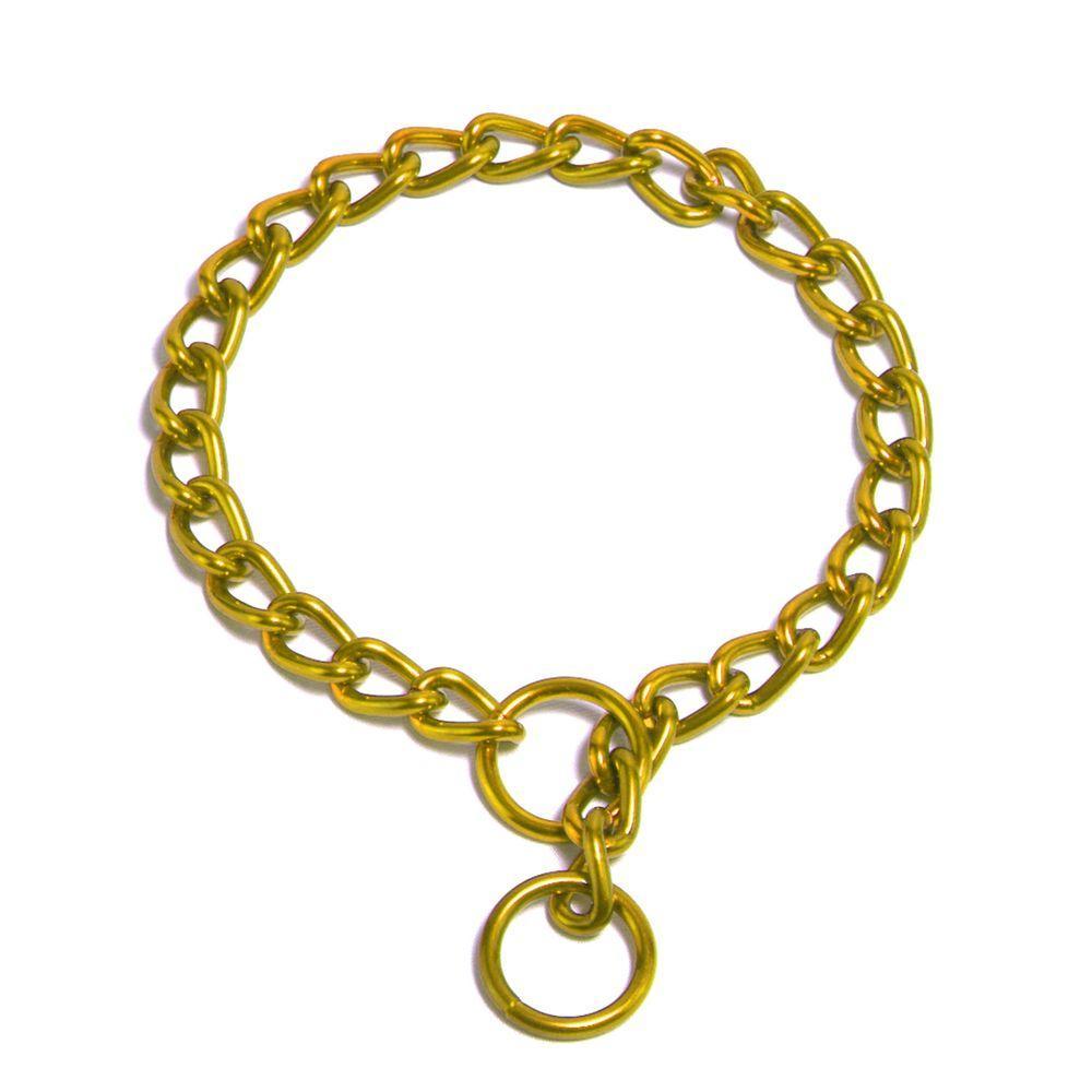 Platinum Pets 20 in. x 4 mm Chain Training Collar, 24K Gold