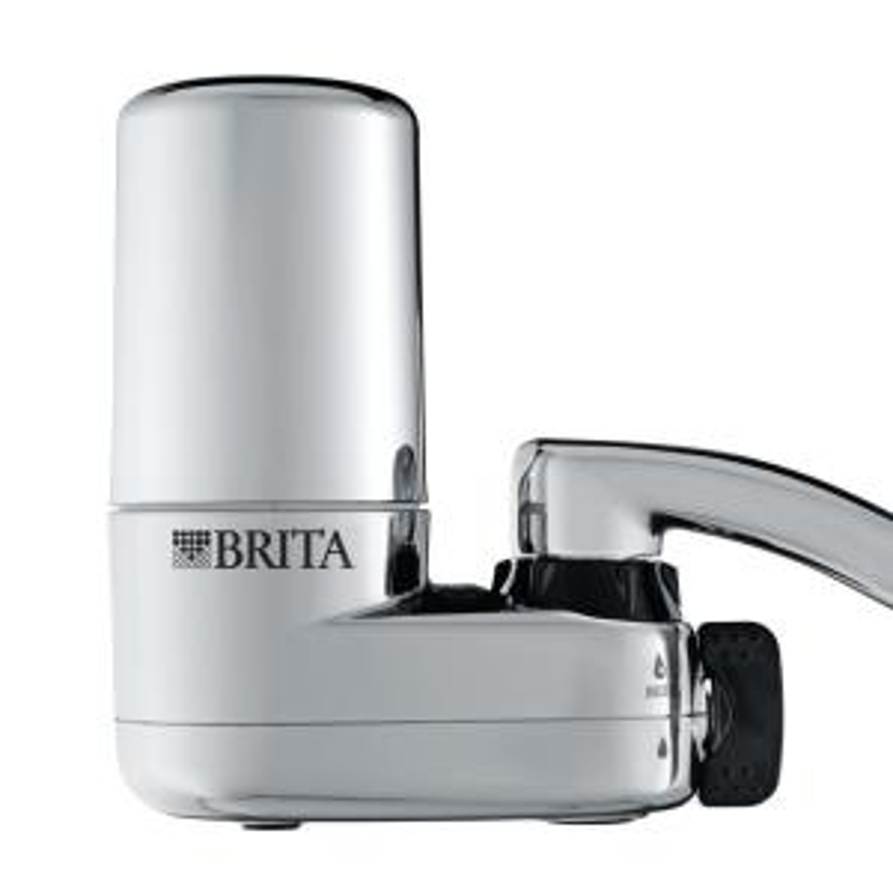 brita on tap faucet filtration system in chrome 6025835618 the home depot. Black Bedroom Furniture Sets. Home Design Ideas