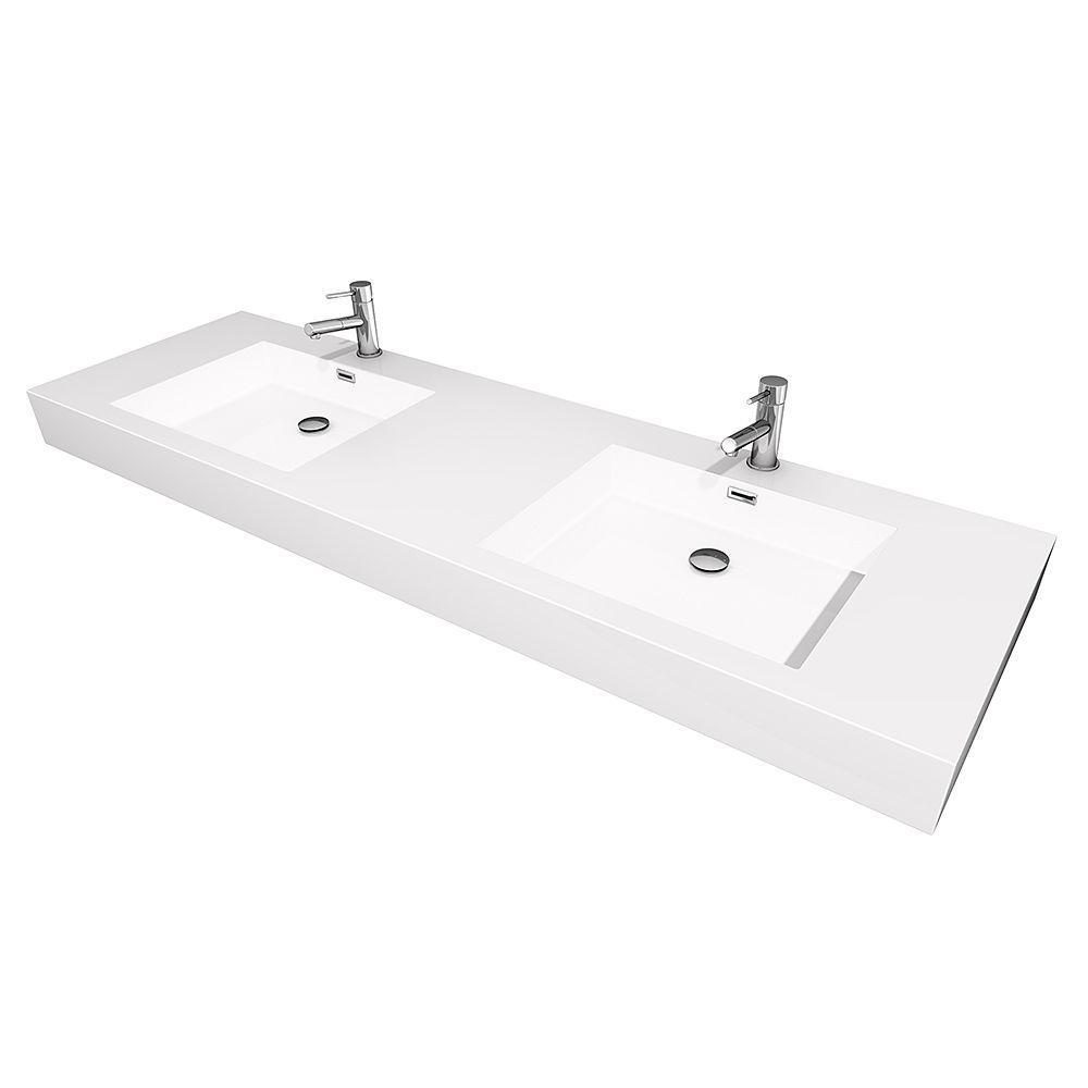 72 Inch Bathroom Vanity Top Double Sink Image Of Bathroom And Closet