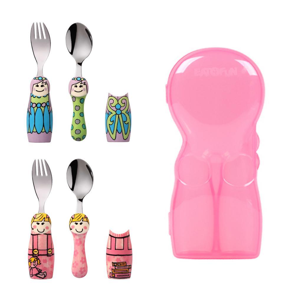 Duo Fairy Princess/Pink Girl 6-Piece Flatware Set