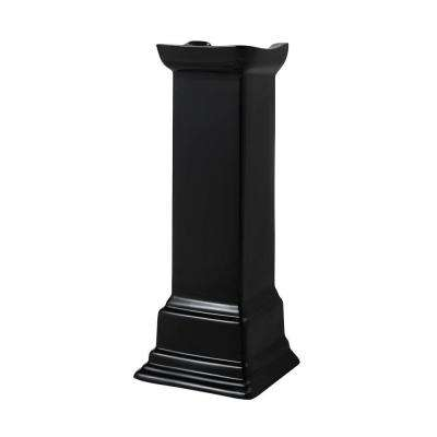 Structure Suite Pedestal Lavatory Leg in Black