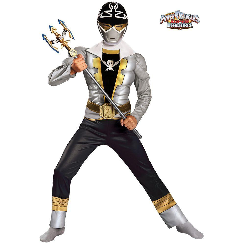 Boys Special Ranger Silver Super Mega Costume