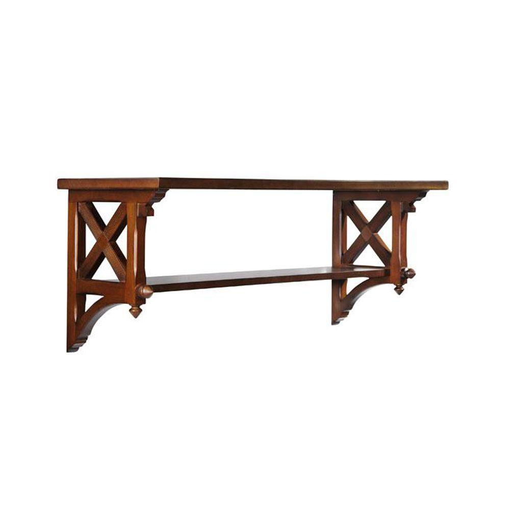 Martha Stewart Living 14.25 in. W Large Sequoia Country Double Shelf