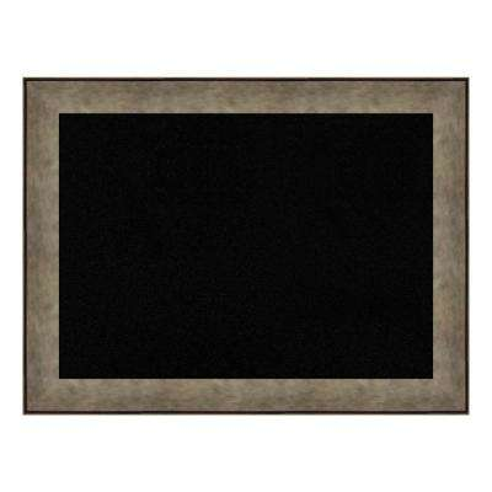 Pounded Metal Framed Black Cork Memo Board