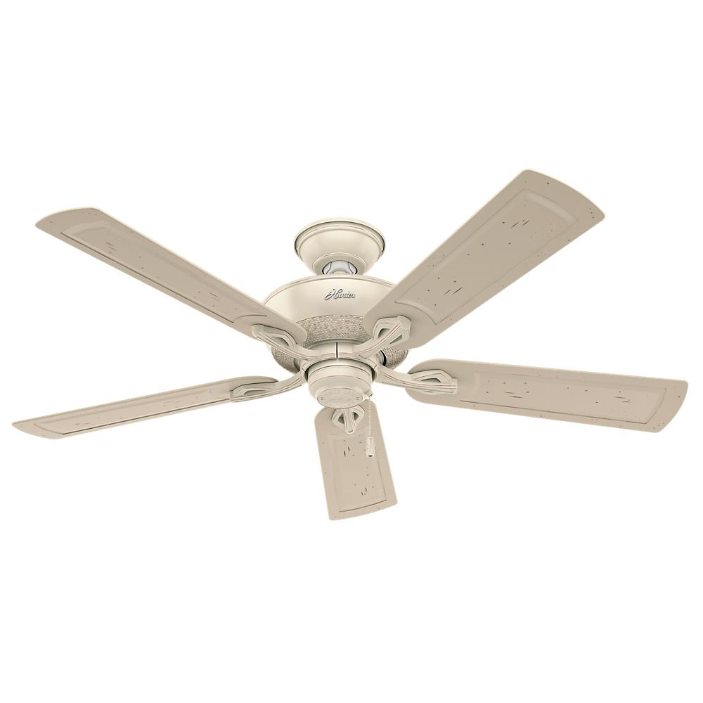 Hunter caicos 52 in indooroutdoor cottage white wet rated ceiling indooroutdoor cottage white wet rated ceiling fan aloadofball Gallery