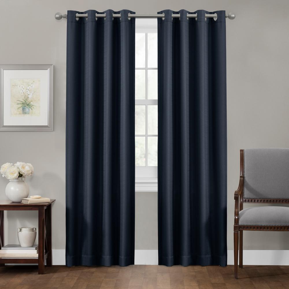 Sheridan 50 in. x 84 in. 100% Blackout Smart Curtain Window Panel