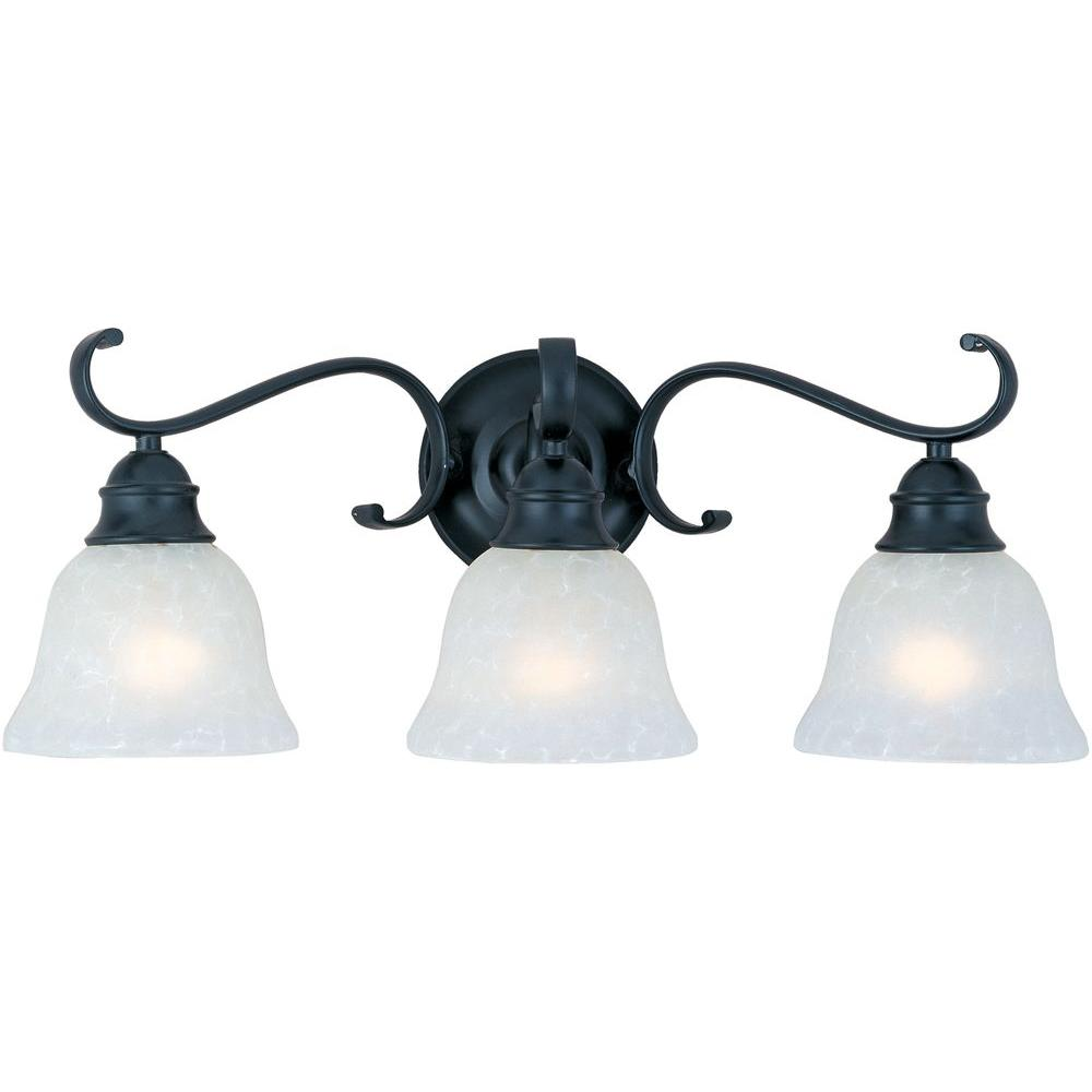 Maxim Lighting Linda 3-Light Black Bath Vanity Light