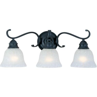 Linda 3-Light Black Bath Vanity Light