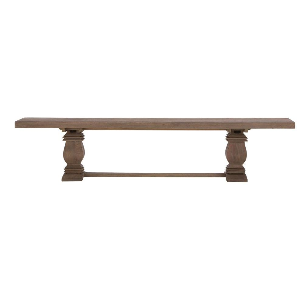 Home Decorators Collection Aldridge Antique Walnut Wood Dining Bench