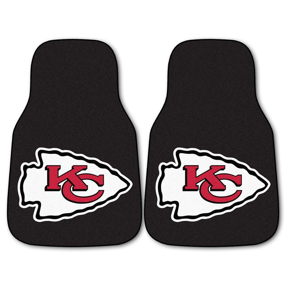 Kansas City Chiefs 18 in. x 27 in. 2-Piece Carpeted Car