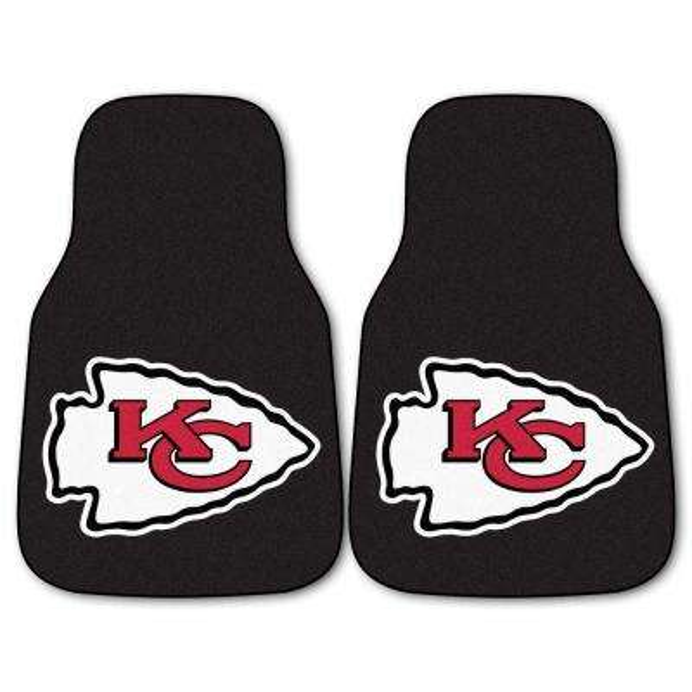 Kansas City Chiefs 18 in. x 27 in. 2-Piece Carpeted Car Mat Set