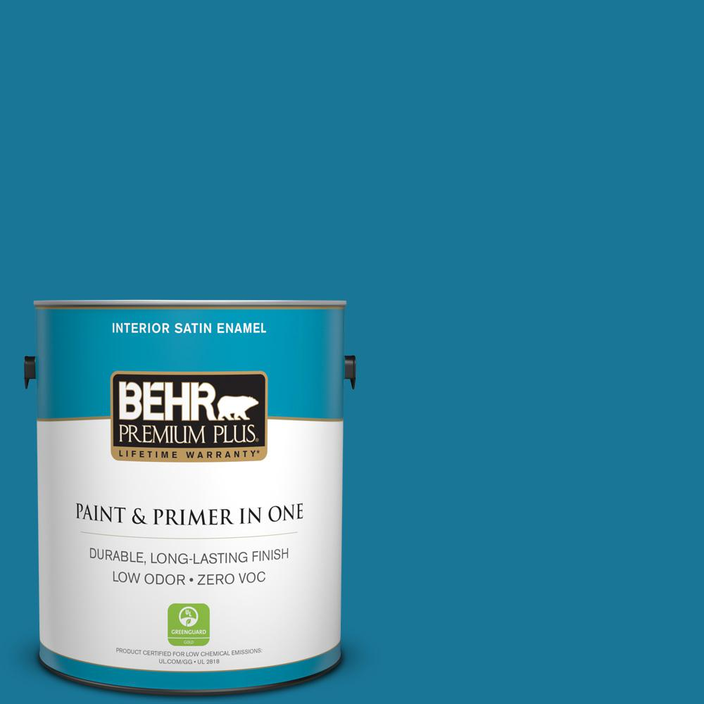 1 gal. #520B-7 Havasu Satin Enamel Zero VOC Interior Paint and