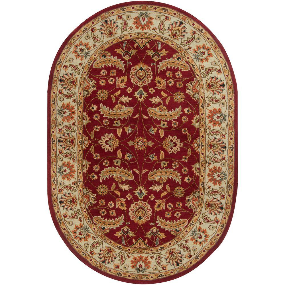 Artistic Weavers John Red 8 Ft X 10 Ft Oval Area Rug Jhn