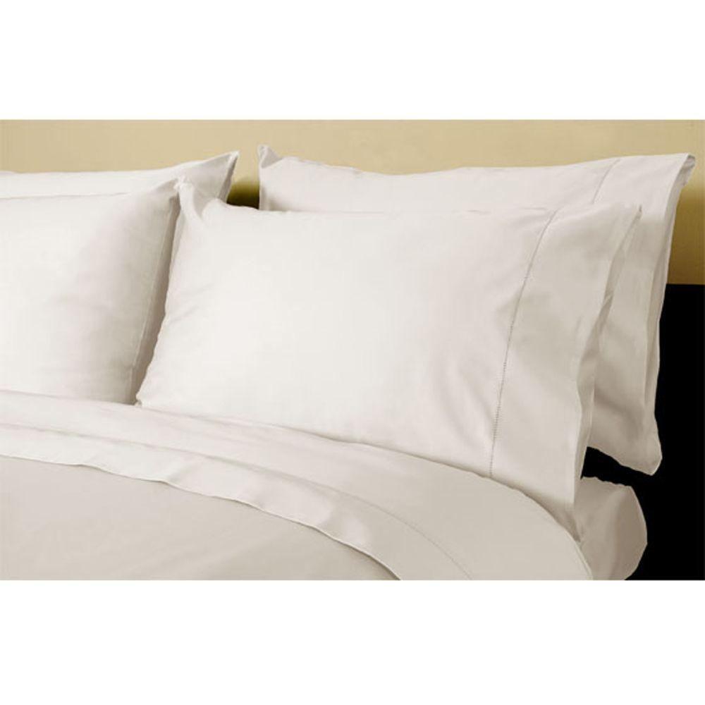Home Decorators Collection Hemstitched Nano White King Pillowcases