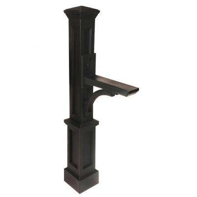 Newport Plus Plastic Mailbox Post, Black
