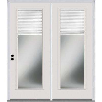 Classic Clear RLB Glass Majestic Steel Prehung Right-Hand Inswing Full Lite Patio Door