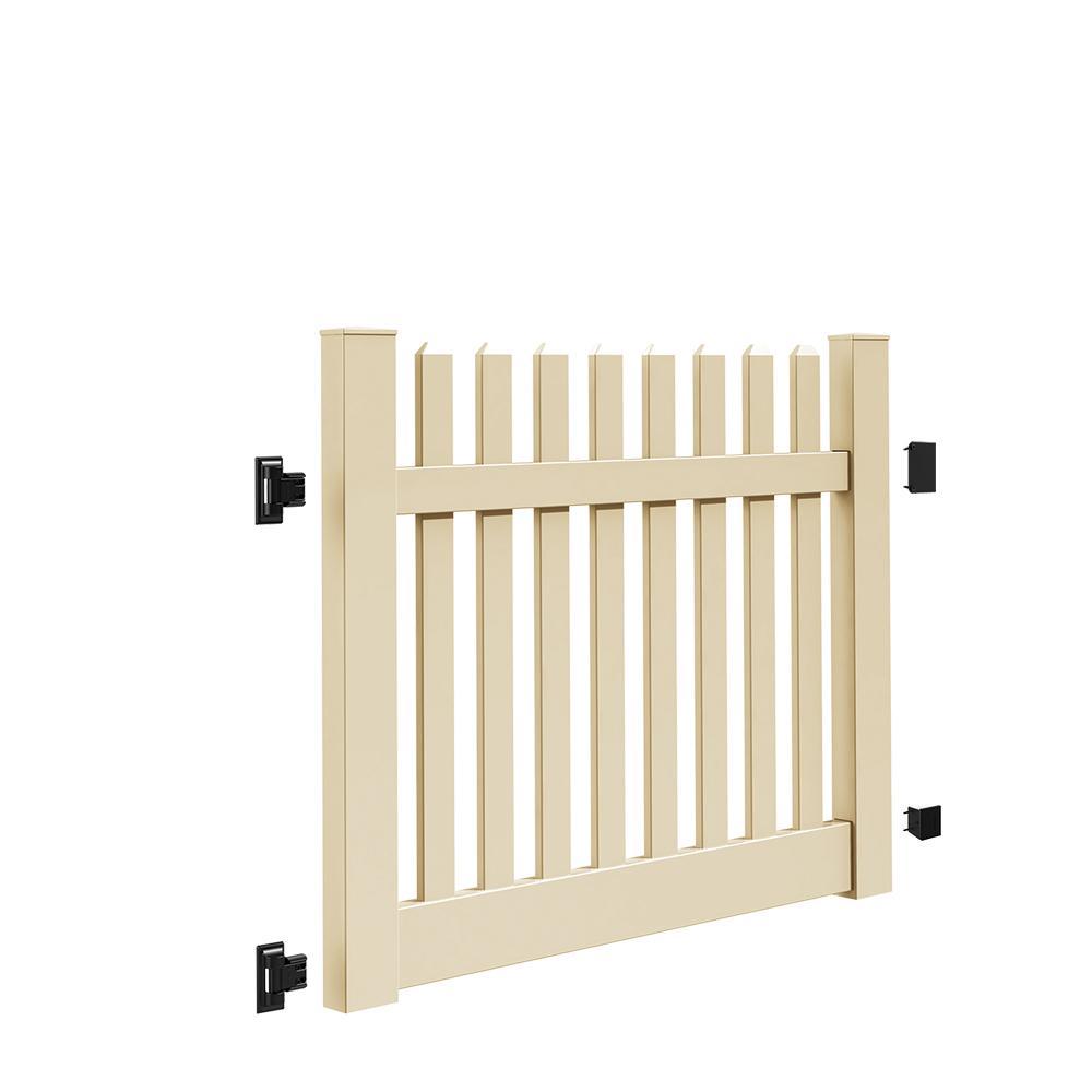 Kettle Straight 5 ft. W x 4 ft. H Sand Vinyl Un-Assembled Fence Gate