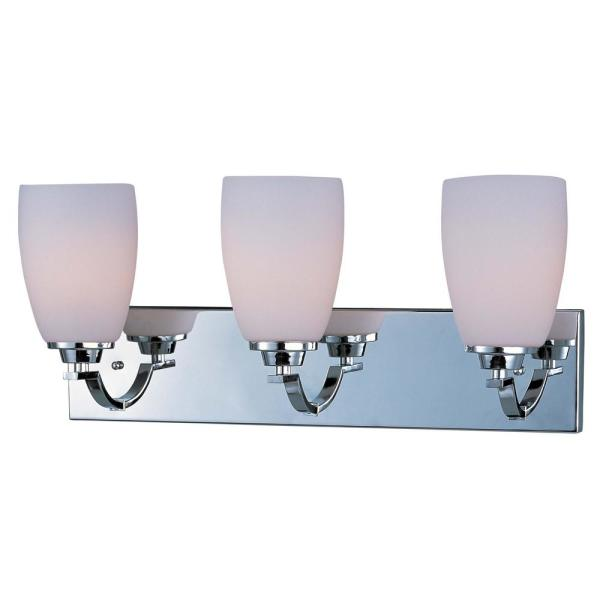 Rocco 22 in. Wide 3-Light Polished Chrome Vanity Light