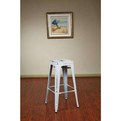 Bristow 30 in. Antique White Bar Stool (Set of 2)