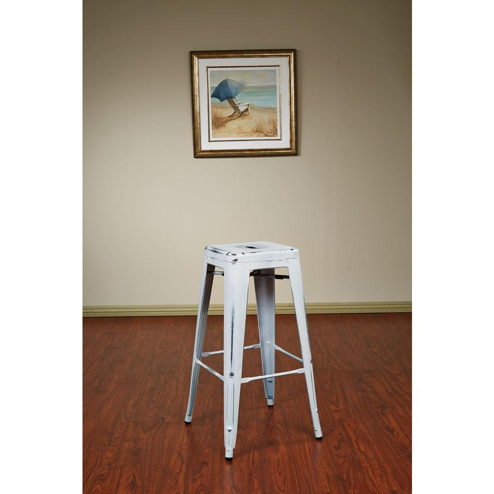 OSP Home Furnishings Bristow 30 in. Antique White Bar Stool (Set of 2) OSP Home Furnishings Bristow 30 in. Antique White Bar Stool (Set of 2)