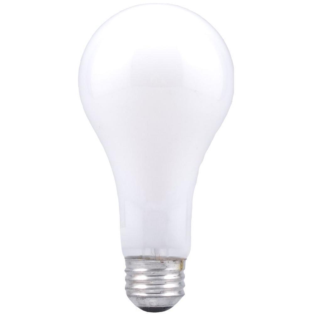 Lot of 4 Sylvania Incandescent A21 Light Bulb Inside Frost 100 Watt 120 Volt Med