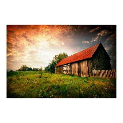 "47 in. x 32 in. ""Country Paradise"" Tempered Glass Wall Art"