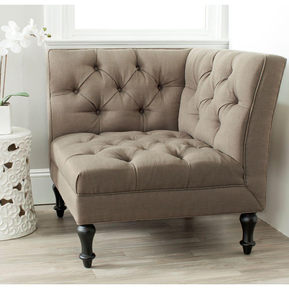 Jack Olive/Black Linen/Polyester Side Chair