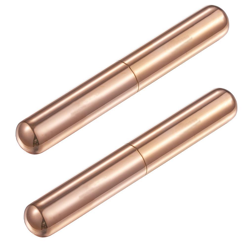 Delta Rose Gold Stainless Steel Cigar Tube (2-Pack)