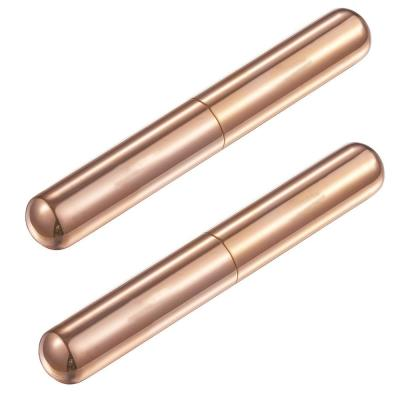 Delta Rose Gold Stainless Steel Cigar Tube (2-Pack)