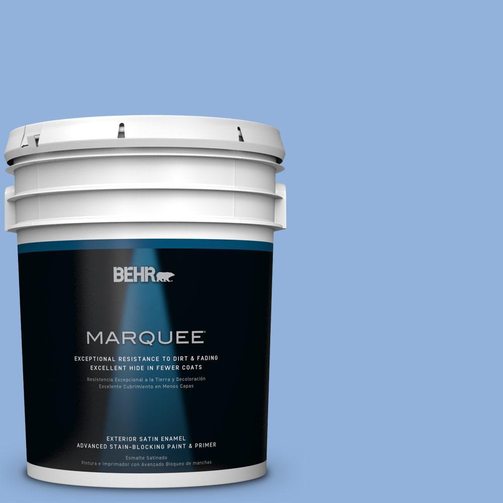 BEHR MARQUEE 5-gal. #PPU15-12 Bluebird Satin Enamel Exterior Paint